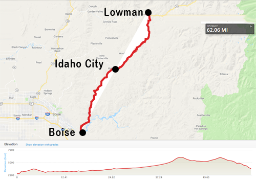 Ride Idaho Route