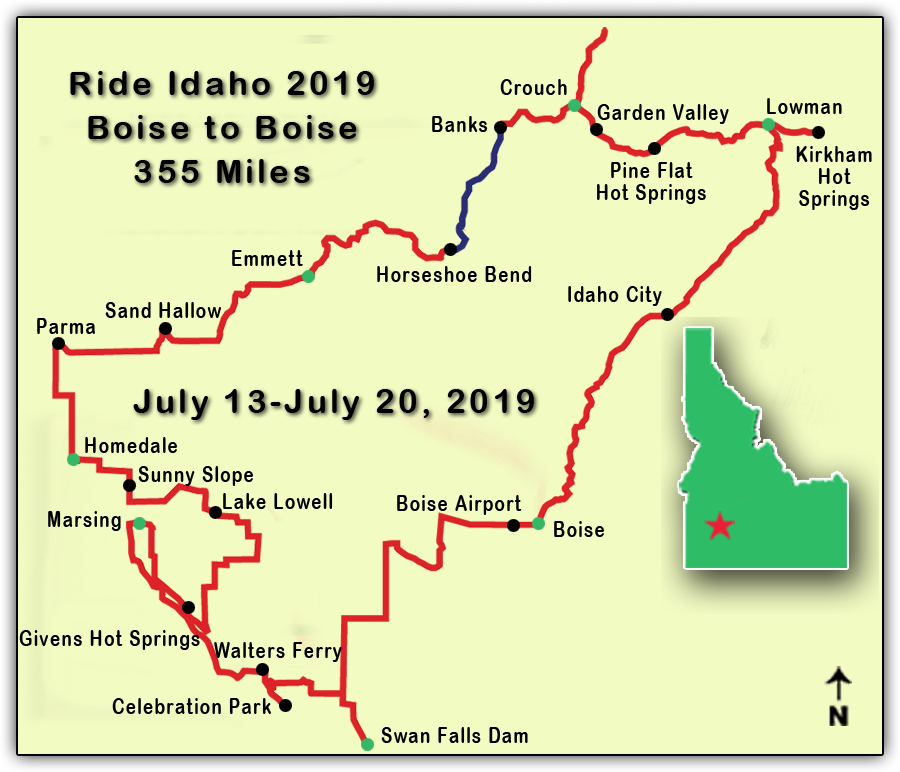 2019 route map