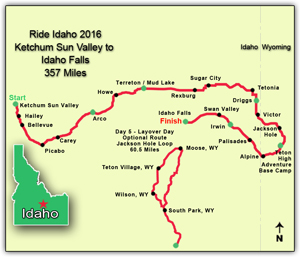 Ride Idaho 2016 Route
